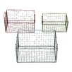 Woodland Imports 3 Piece Wire Basket Set