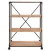Woodland Imports Portable Metal Wood Shelf