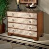 Designer's Edge 4 Drawer Chest with Capiz Shell Accents