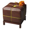 <strong>Butler</strong> Modern Expressions Leather Cube Ottoman