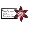 <strong>Marnie Family, Where Life Begins and Love Never Ends Wall Décor</strong> by Fetco Home Decor