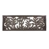 <strong>Fetco Home Decor</strong> Scenic Leaf Hand Carved Wall Décor
