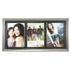 Fetco Home Decor Fashion Truro Matte Silver with Smoke Picture Frame