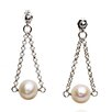 <strong>Eco Opulence</strong> Swing Cultured Pearl Drop Earrings