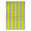 DENY Designs Holli Zollinger Bright Yellow/Grey Stripe Area Rug