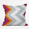 DENY Designs Karen Harris Modernity Solstice Warm Chevron Outdoor Throw Pillow