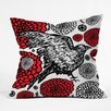 DENY Designs Julia Da Rocha Raven Rose Throw Pillow