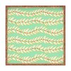 DENY Designs Jacqueline Maldonado Leaf Dot Stripe Mint Square Tray