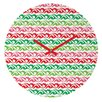 DENY Designs Andi Bird Sugar Plum Stripe Wall Clock