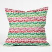 DENY Designs Andi Bird Sugar Plum Stripe Throw Pillow