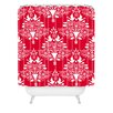 DENY Designs Jacqueline Maldonado Christmas Paper Cutting Woven Polyester Shower Curtain