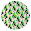 DENY Designs Cayenablanca Patterned Christmas Tree Wall Clock