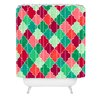 DENY Designs Jacqueline Maldonado Morocco Christmas Woven Polyester Shower Curtain