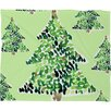 DENY Designs Cayenablanca Smells Like Christmas Plush Fleece Throw Blanket