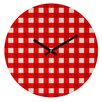 DENY Designs Holli Zollinger Gingham Wall Clock