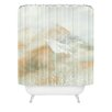 DENY Designs Caleb Troy Banff Gold Painted Christmas Woven Polyester Shower Curtain