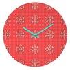 DENY Designs Ingrid Padilla Flakes A Flutter Wall Clock