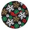DENY Designs Zoe Wodarz Cozy Cabin Snowflakes Wall Clock