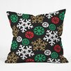 DENY Designs Zoe Wodarz Cozy Cabin Snowflakes Throw Pillow