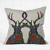 DENY Designs Sharon Turner Poinsettia Deer Throw Pillow