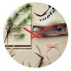 DENY Designs The Light Fantastic Christmas Card Wall Clock