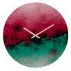 DENY Designs Caleb Troy Zero Visibility Poinsettia Ombre Wall Clock