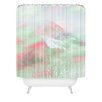 DENY Designs Caleb Troy Banff Painted Christmas Woven Polyester Shower Curtain