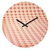 DENY Designs The Light Fantastic Houndstooth Polaroid Wall Clock
