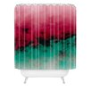 DENY Designs Caleb Troy Zero Visibility Poinsettia Ombre Woven Polyester Shower Curtain