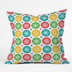 DENY Designs Andi Bird Sierra Snowflakes Throw Pillow