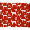DENY Designs Natt Christmas Deer Plush Fleece Throw Blanket