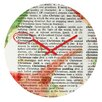 DENY Designs Susanne Kasielke Christmas Dictionary Art Wall Clock