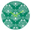 <strong>Jacqueline Maldonado Christmas Paper Cutting Wall Clock</strong> by DENY Designs
