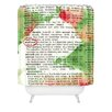 DENY Designs Susanne Kasielke Mistletoe Dictionary Art Woven Polyester Shower Curtain