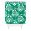 <strong>Jacqueline Maldonado Christmas Paper Cutting Green Woven Polyester ...</strong> by DENY Designs