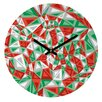 DENY Designs Gneural Triad Illusion Yule Wall Clock