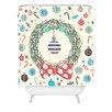 DENY Designs Sam Osborne Christmas Wreath Woven Polyester Shower Curtain