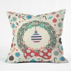 DENY Designs Sam Osborne Christmas Wreath Throw Pillow