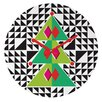 DENY Designs Zoe Wodarz Geo Pop Tree Wall Clock