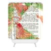DENY Designs Susanne Kasielke Santa Claus Dictionary Art Woven Polyester Shower Curtain