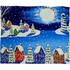 DENY Designs Renie Britenbucher Snowy Shoreline Plush Fleece Throw Blanket