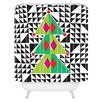 DENY Designs Zoe Wodarz Geo Pop Tree Woven Polyester Shower Curtain