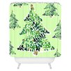 DENY Designs Cayenablanca Smells Like Christmas Woven Polyester Shower Curtain