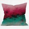 DENY Designs Caleb Troy Zero Visibility Poinsettia Ombre Throw Pillow