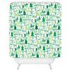 DENY Designs Zoe Wodarz Wonderland Forest Woven Polyester Shower Curtain