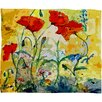 DENY Designs Ginette Fine Art Poppies Provence Polyester Fleece Throw Blanket