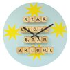 DENY Designs Happee Monkee Star Light Star Bright Wall Clock
