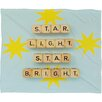 DENY Designs Happee Monkee Star Light Star Bright Plush Fleece Throw Blanket