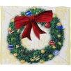 DENY Designs Madart Inc. Pine Wreath Plush Fleece Throw Blanket
