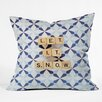 DENY Designs Happee Monkee Let It Snow Throw Pillow